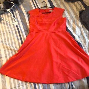 Size 10 Dress Barn salmon pink short sleeve dress
